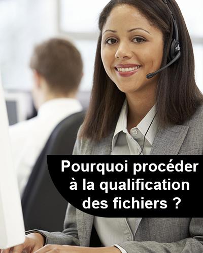 La qualification des fichiers : cas du call center
